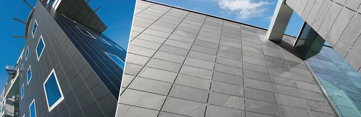 Facciate ventilate montaggio piastrelle ardesia su pareti esterne balfin stone - Montaggio piastrelle ...