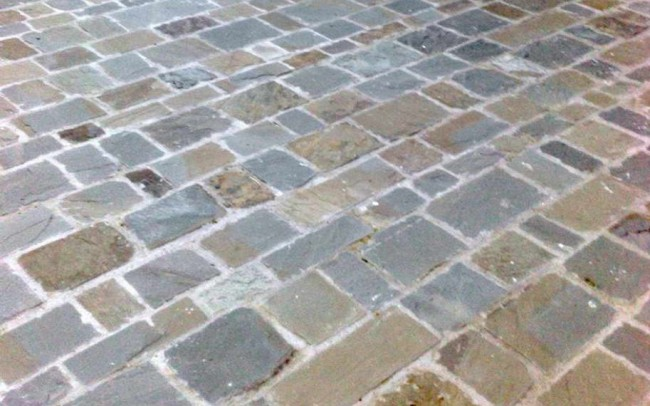 11 grey sandstone mix natural cleft - ardesia grigia spacco naturale colori misti