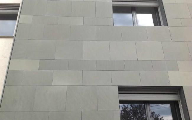 1 grey sandstone - ardesia grigio sabbia facciata ventilata