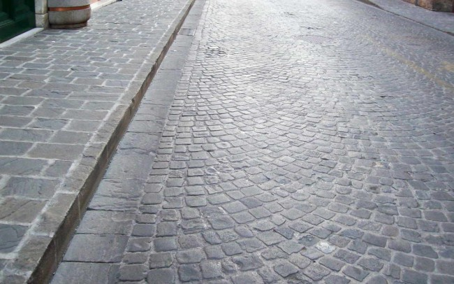 24 grey sandstone cubes - sanpietrini di ardesia grigia manto strade
