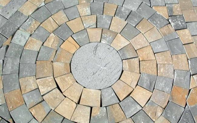 25 grey sandstone cubes - sanpietrini di ardesia grigia manto stradale