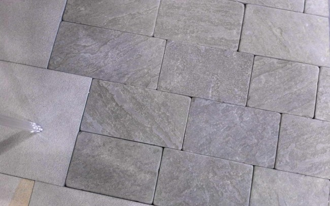 8 grey sandstone natural cleft tumbled - ardesia grigia spacco naturale burrattato