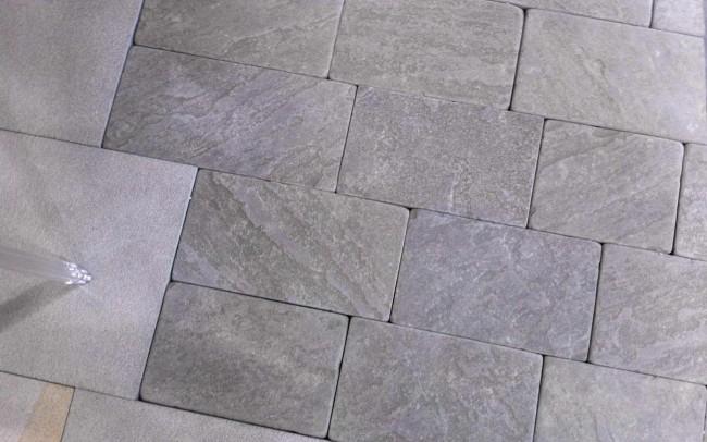8 grey sandstone natural cleft tumbled - ardesia grigia spacco naturale burrattato