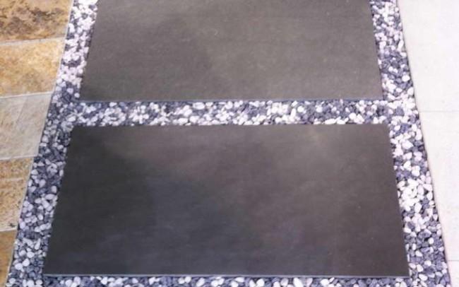 9 grey sandstone tiles - ardesia grigia mattonelle