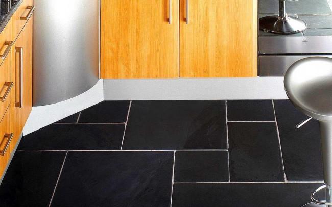 black velvet ardesia 8 mattonelle per pavimento cucina