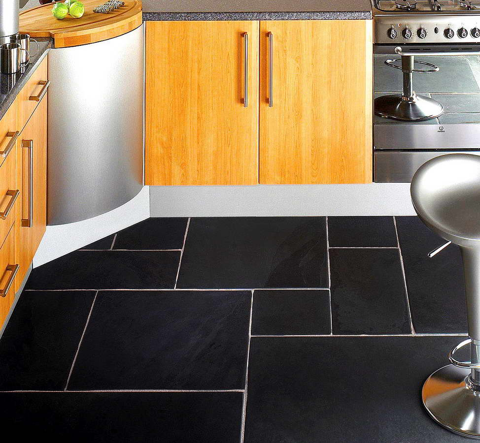 Black velvet ardesia 8 mattonelle per pavimento cucina - Mattonelle per cucina ...