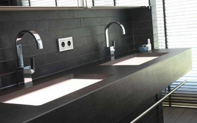 black velvet ardesia 11 rivestimento pareti bagno e piano
