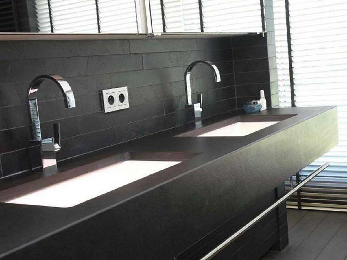 Piano Bagno In Ardesia : Black velvet ardesia rivestimento pareti bagno e piano balfin