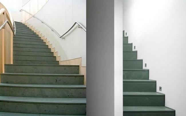 2 Ardesia Verde per scale, gradini, montate