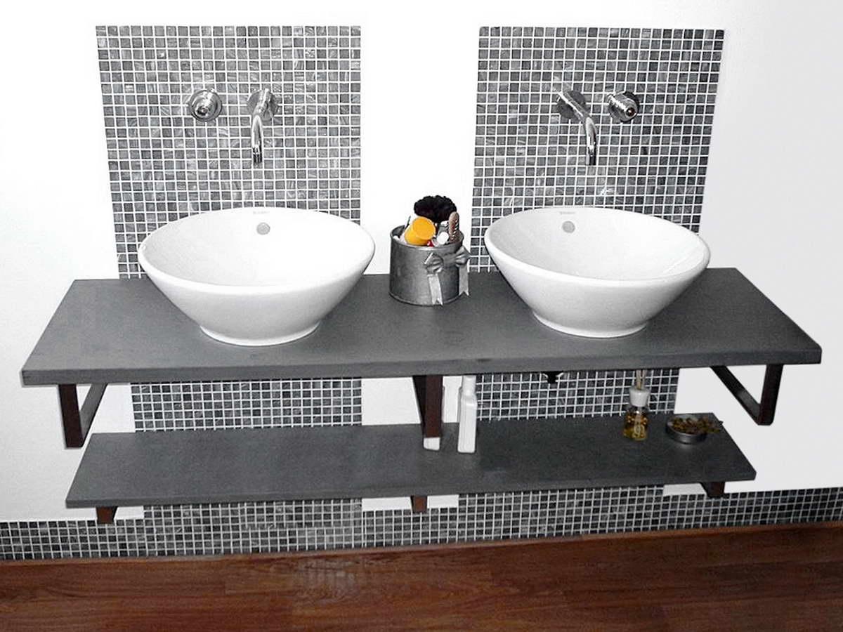 Piano Bagno In Ardesia : Ardesia grigio oceano piano bagno tasselli mosaico parete