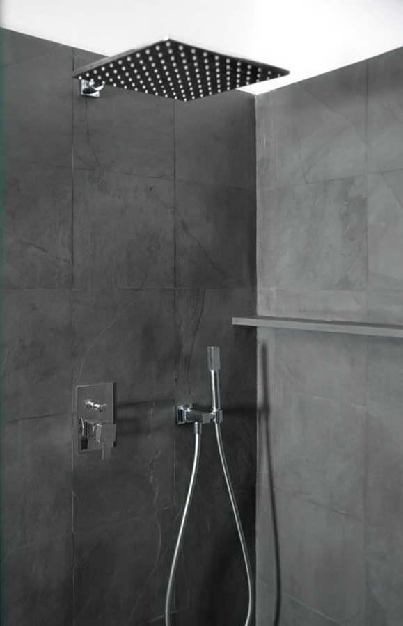 Ardesia grigio oceano 23 rivestimento pareti doccia bagno balfin stone - Bagno in ardesia ...