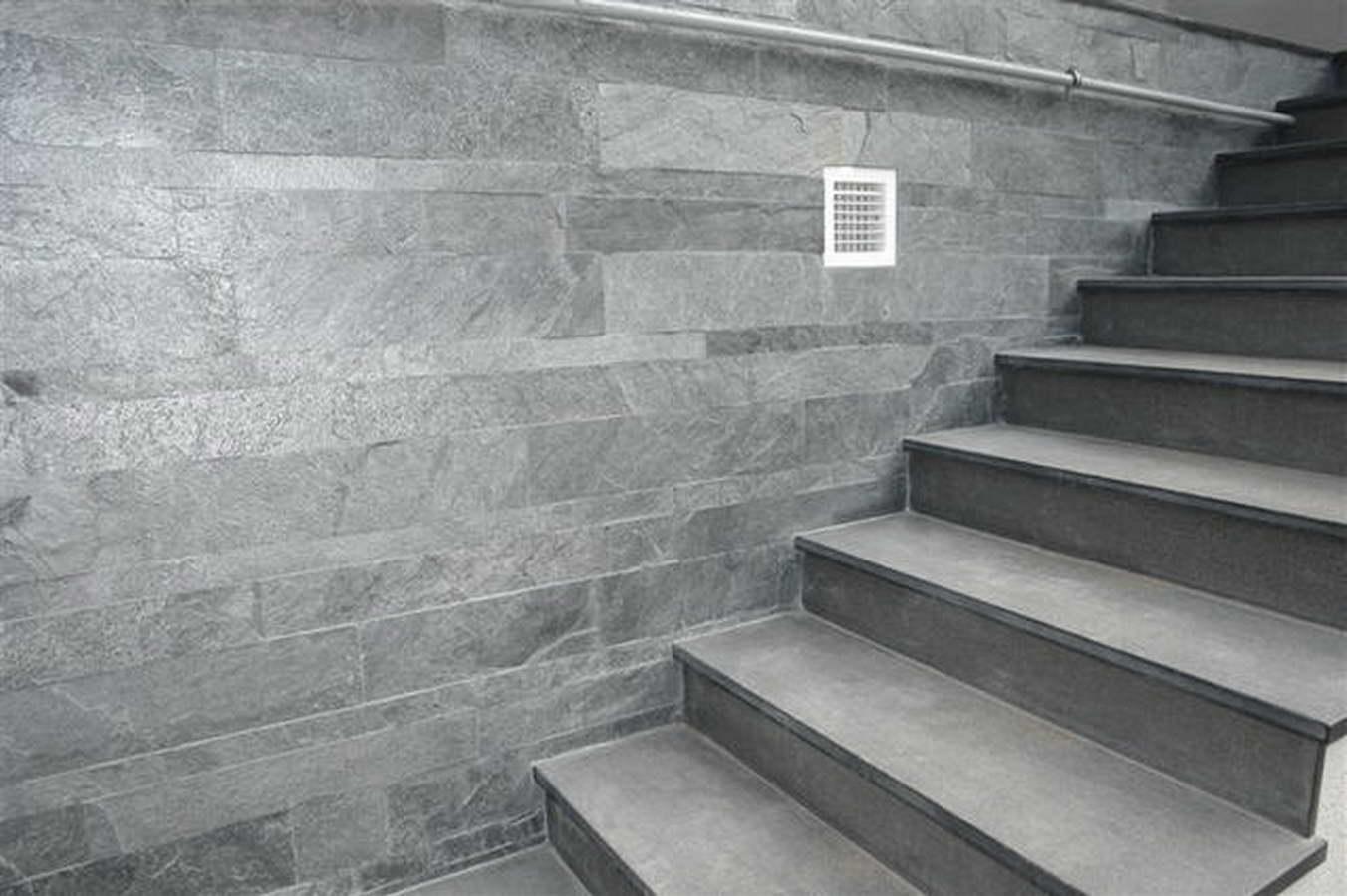 Ardesia grigio oceano 35 pareti e scale balfin stone - Scale in ardesia ...