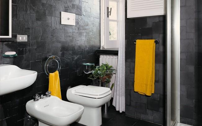 italian slate - pareti e pavimento bagno in ardesia