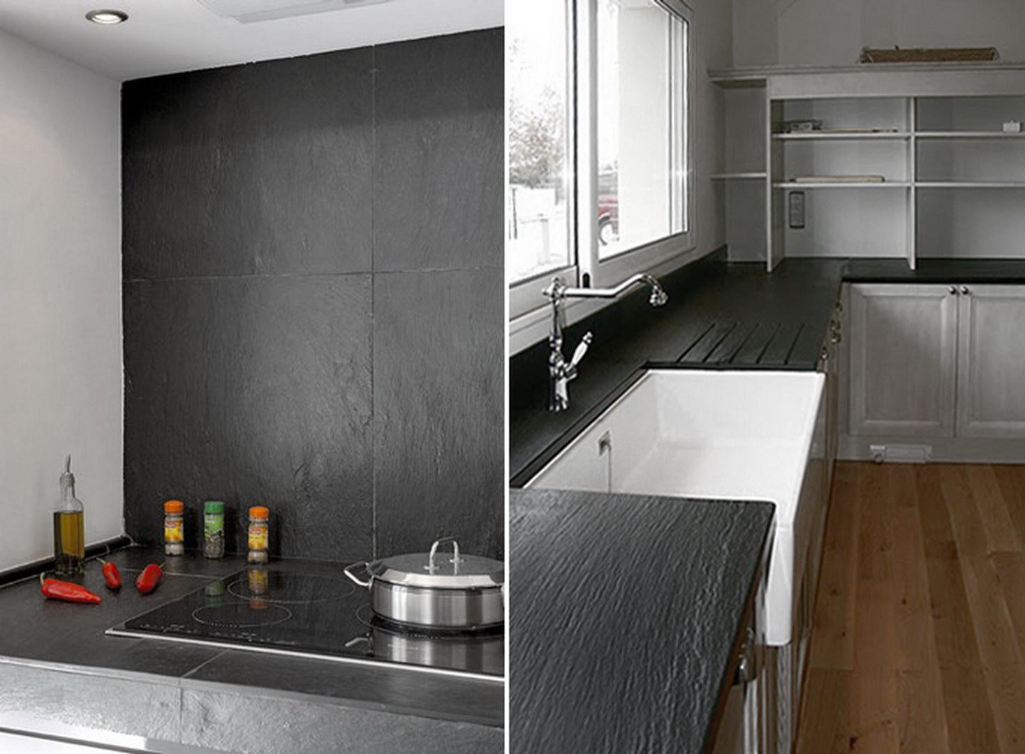 Piani per cucina in ardesia design casa creativa e - Ardesia in cucina ...