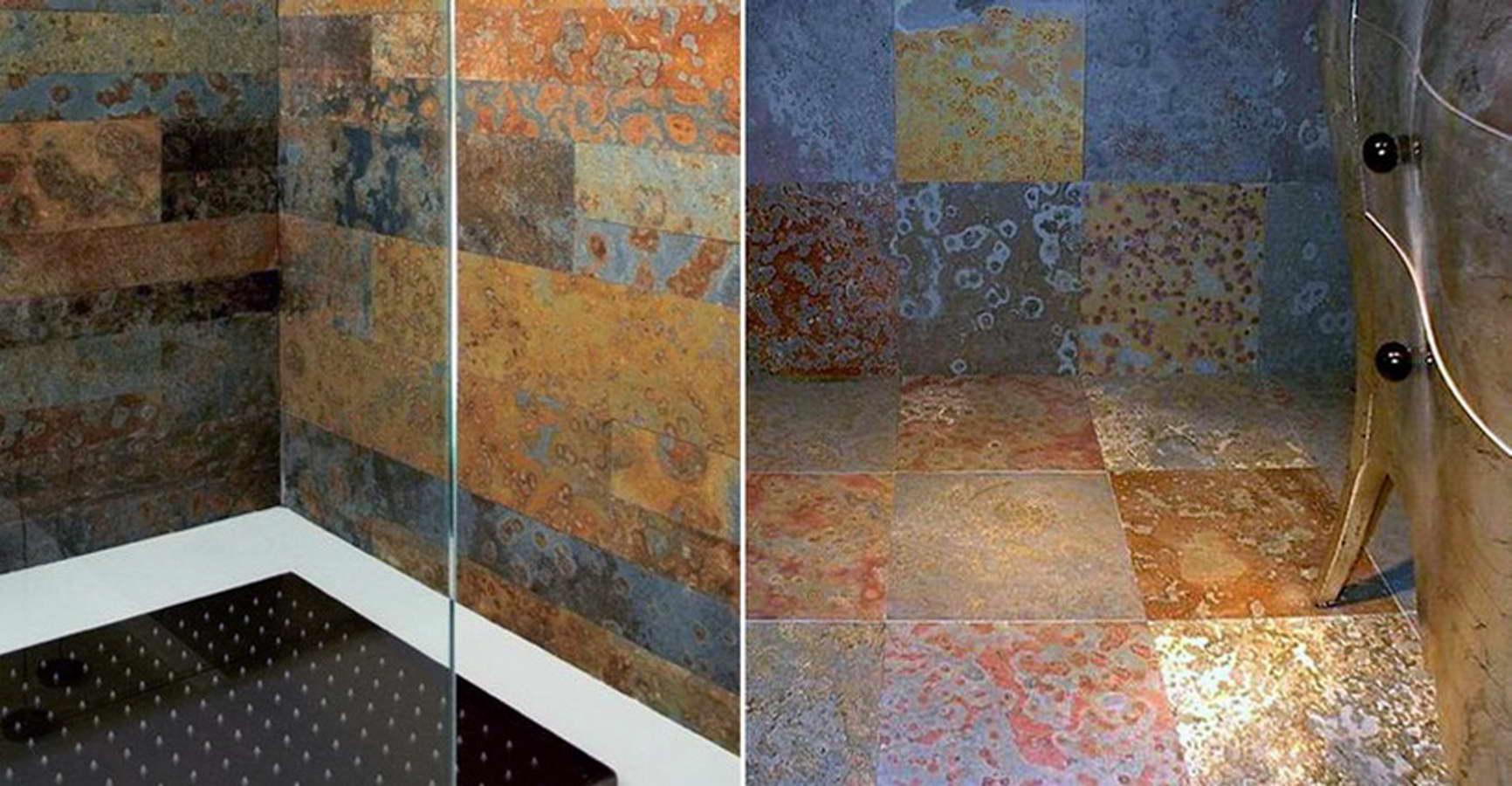 Ardesia multicolor 1 pareti doccia bagno balfin stone - Bagno in ardesia ...