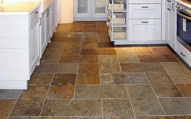 Ardesia Multicolor 3 pavimento cucina