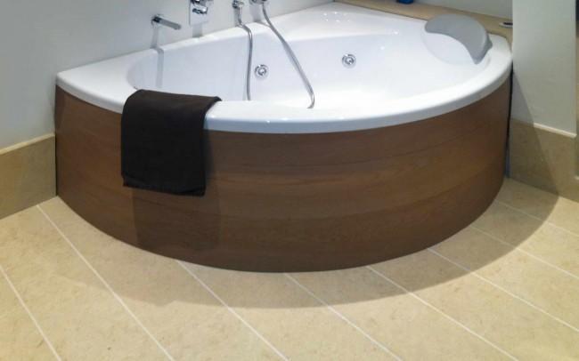 10 Pergamena Stone Brushed - Pietra Pergamena Spazzolata per vasca da bagno