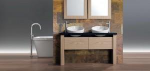 Design di Interni Bagno in Ardesia Pareti e Accessori