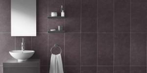 Design di Interni Bagno in Ardesia Viola Rivestimento Pareti Piastrelle